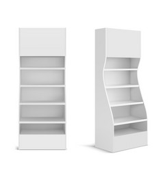 white pos display stand for supermarket vector image