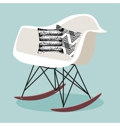 with rocking chair vector image