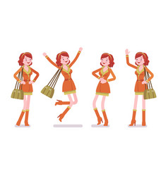 young woman positive emotions vector image