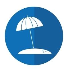 Beach umbrella parasol sun vacation shadow vector