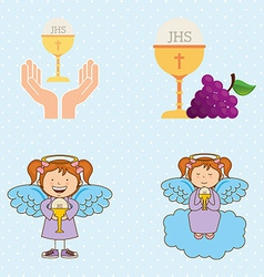 cute angels vector image vector image