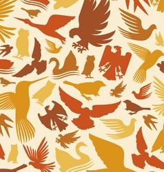 decorative bird background vector image