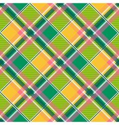 Yellow Green Pink Diamond Chessboard Background vector image vector image