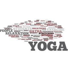 yoga for modern city life hatha yoga most popular vector image