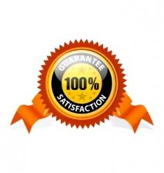 100% satisfaction guaranteed sign vector image