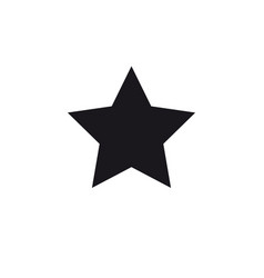 black star symbol vector image