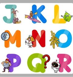 Education Cartoon Alphabet Letters for Kids vector image