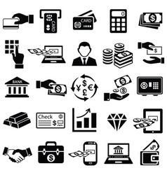 Finance money icons set vector