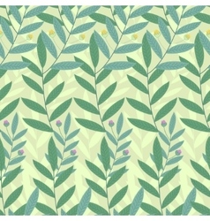Floral seamless pattern Background of green vector image vector image