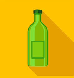 green empty bottle icon flat style vector image