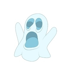 Halloween ghost icon in cartoon style vector image vector image