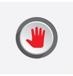 Hand open palm tool icon cursor direction move vector