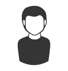 man guy boy person face head hair icon vector image