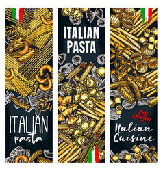 with italian pasta vector image vector image