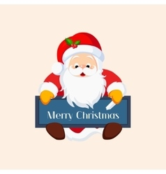 Christmas Santa Claus with a Chalkboard vector image vector image