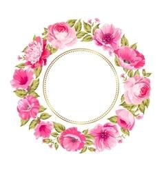 Flower garland vector image vector image