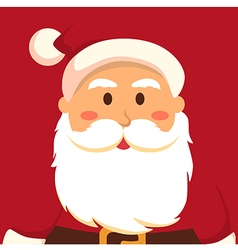 Fullface Santa Red vector image vector image