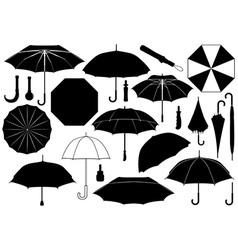 Set of different umbrellas vector image vector image