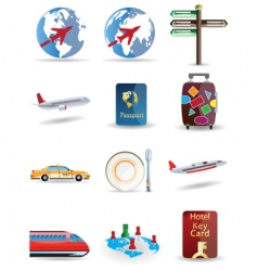 travel and globe icons vector image