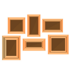 frame wooden picture photo background design vector image