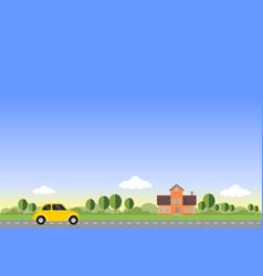 Home - flat design landscape vector