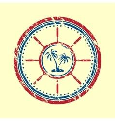 Palms symbol grunge vector image vector image