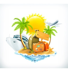 Summer travel icon vector image vector image
