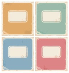 Vintage notebook covers vector image vector image