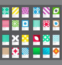 79 business cards set vector image