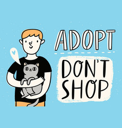 Adopt do not shop vector