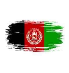 Afghani flag brush grunge background vector