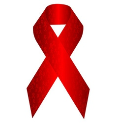Aids awareness ribbon vector
