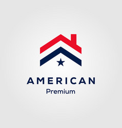 american flag house premium house mortgage logo vector image