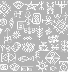 Ancient symbols set seamless vector image