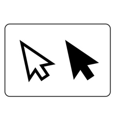 Arrows pointer signs set vector