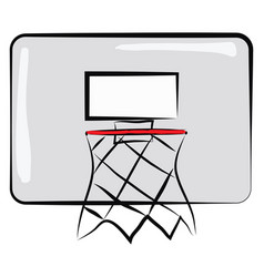 basketball board with net color on white vector image
