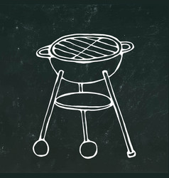 bbq grill summer barbecue equipment isolated on vector image
