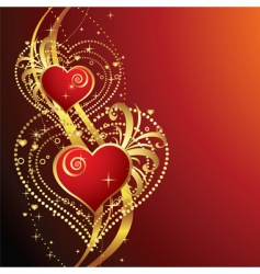 beautiful background with hearts v vector image