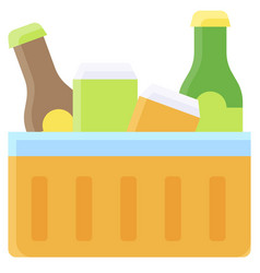 beverage in ice box icon summer vacation related vector image