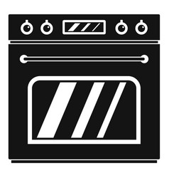Big gas oven icon simple style vector