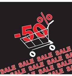 Big sale 50 percentage discount vector