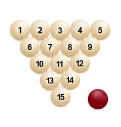 Billiard balls photo-realistic vector