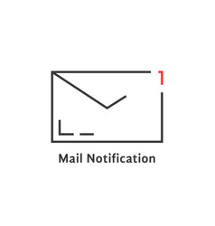 black mail notification icon vector image