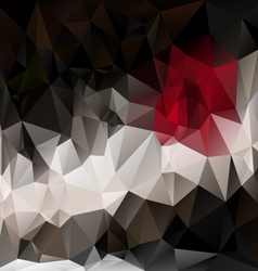Black red polygonal triangular pattern background vector