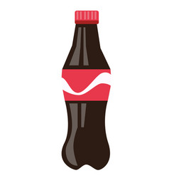 Bottle of brown soda cartoon vector