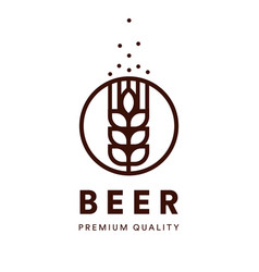 brewery emblem craft beer logo premium vector image