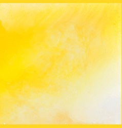 bright yellow watercolor texture background vector image