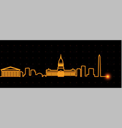 buenos aires light streak skyline vector image