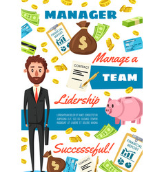 business clerk or financial manager vector image