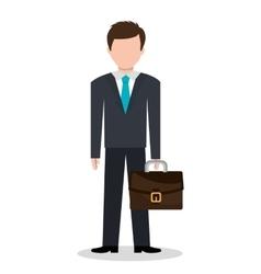 Businessman avatar graphic vector